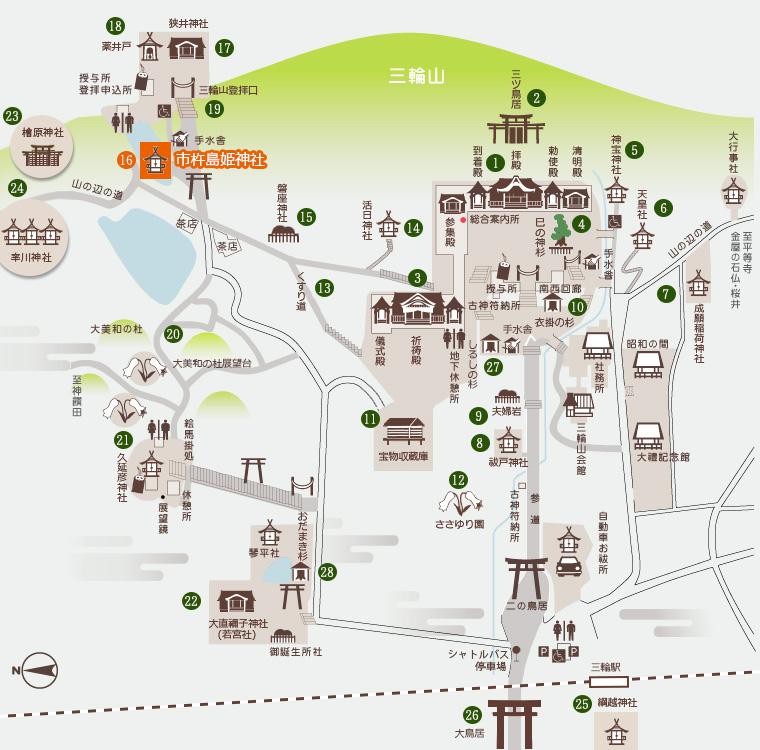 市杵島姫神社 地図