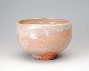 萩焼茶碗 銘『三輪』